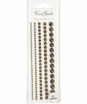 Bruine plak parels 140 stuks voor het gezicht