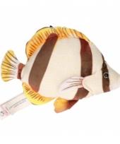 Bruine tropische vis knuffeldier 21 cm