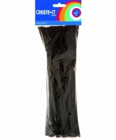 Buigbare pijpendragers zwart 30 cm 50 st