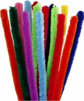 Buigbare pijpenragers in verschillende kleuren 30 cm 15 st