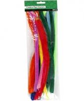 Buigbare pijpenragers in verschillende kleuren 30 cm 25 st