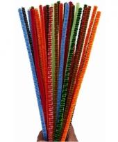 Buigbare pijpenragers in verschillende kleuren 30 cm 30 st