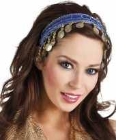 Buikdanseres hoofdband diadeem kobalt blauw dames verkleedaccess
