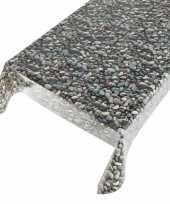 Buiten tafelkleed zeil stenen motief 140 x 170 cm