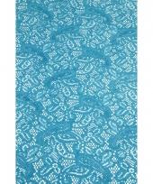 Buiten tafelloper aqua blauw anti slip 150 x 40 cm