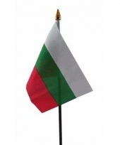 Bulgaarse landenvlag op stokje