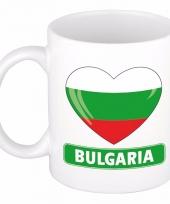 Bulgaarse vlag hartje koffiemok 300 ml