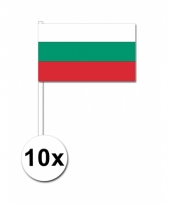 Bulgarije zwaai vlaggetjes 10 stuks