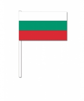 Bulgarije zwaai vlaggetjes 12 x 24 cm