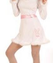 Bunnyoutfit wit roze