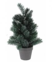 Bureau kerstboom zilveren glitters 40 cm