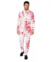 Business suit dokter met bloedspatten print