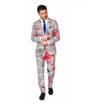 Business suit met bloedhanden print
