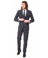 Business suit met pac man print