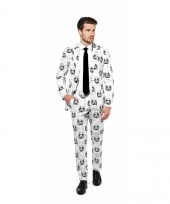 Business suit met stormtrooper print