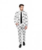 Business suit met stormtrooper print