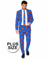 Business suit met superman print 10064722