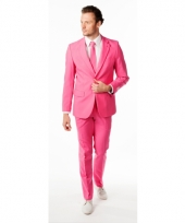 Business suit roze voor heren