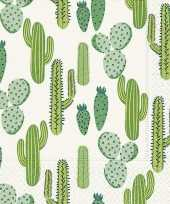 Cactus thema servetten 40 stuks