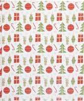 Cadeaupapier kerst elementen 500 x 50 cm op rol