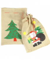 Cadeautjes zak kerstman 60 x 90 cm