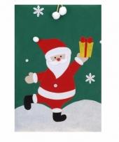 Cadeauzak kerstman groen 97 cm