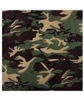 Camouflage bandana hoofddoek voor volwassenen