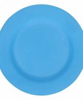 Camping ontbijt bord blauw 17 5 cm