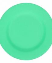 Camping ontbijt bord groen 17 5 cm
