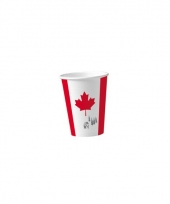 Canadese thema bekertjes van karton 8 st