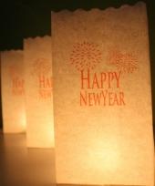 Candle bags happy newyear 10 stuks
