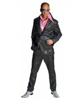 Carnaval disco kleding heren zwart