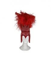 Carnaval hoofdtooi rood dames