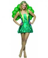 Carnaval pauwen kostuum voor dames