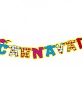 Carnaval slinger rood wit blauw geel