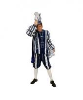 Carnavalkostuum prins blauw wit