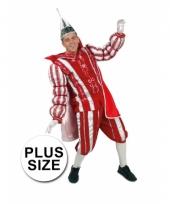 Carnavalkostuum prins rood wit grote maat