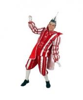 Carnavalkostuum prins rood wit