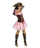 Carnavals musketiers jurk roze