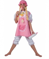 Carnavals outfit roze baby voor dames