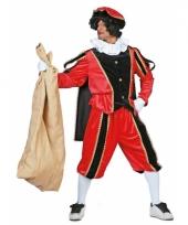 Carnavalskostuum rood zwarte pieten kostuum fluweel
