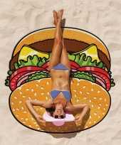 Cartoon hamburger handdoek 150 cm