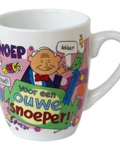 Cartoon mok ouwe snoeper