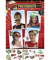 Casino photo booth set 18 stuks