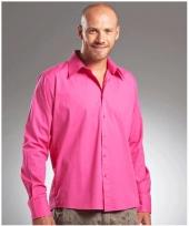 Casual fuchsia roze overhemd manhatten