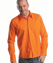 Casual oranje overhemd manhatten
