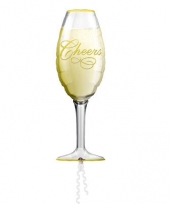Champagne folieballon 90 cm