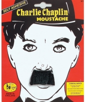 Chaplin snor zwart