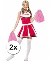 Cheerleader pompoms roze 2x