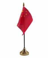China tafelvlaggetje 10 x 15 cm met standaard
